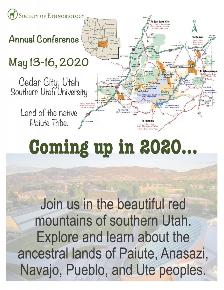 SoE Annual Conference May 13-16, 2020 in Cedar City, Utah