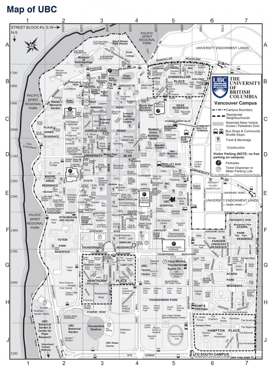 Map of UBC
