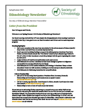 Spring/Summer 2020 Ethnobiology Newsletter