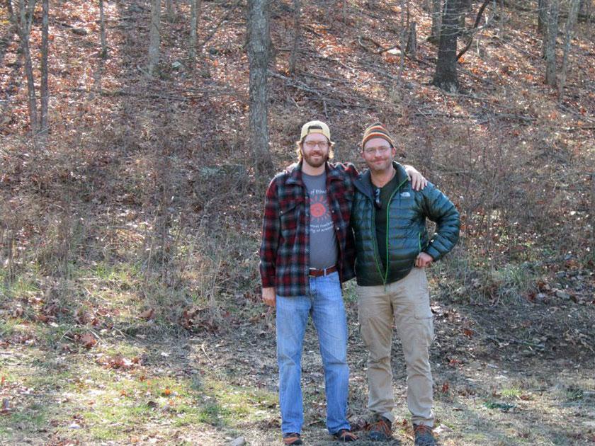Justin Nolan (R) with Steve Wolverton, Fayetteville, Arkansas