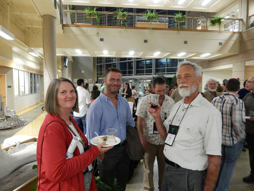 Justin Nolan with Jan Timbrook (L) and Gene Anderson (R) at 2013 Ethnobiology Conference in Denton, Texas