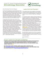 Summer 2021 Ethnobiology Newsletter
