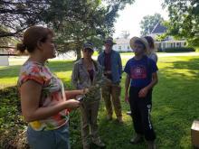Ashley Glenn teaching botany